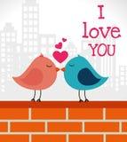 Het ontwerp van de liefdekaart, vectorillustratie eps 10 Royalty-vrije Stock Foto