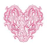 Het ontwerp van de liefdekaart, vectorillustratie eps 10 Stock Afbeeldingen