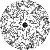 Het ontwerp van de Mandalaolifant Stock Afbeelding