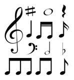 Het ontwerp van de muziek Stock Afbeeldingen