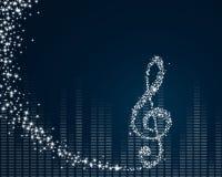 Het ontwerp van de muziek Stock Foto