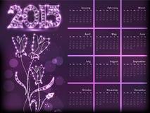 Het ontwerp van de nieuwjaar 2015 kalender Royalty-vrije Stock Fotografie