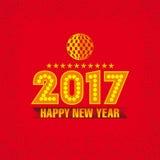 Het Ontwerp van de nieuwjaarskaart Royalty-vrije Stock Foto