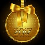 Het Ontwerp van de nieuwjaarskaart Stock Afbeelding