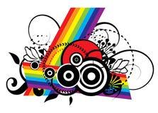 Het Ontwerp van de Regenboog van Grunge vector illustratie