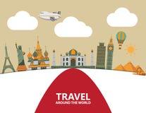 Het ontwerp van de reisillustratie Stock Foto's