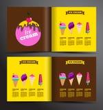 Het ontwerp van de roomijsbrochure Stock Foto's