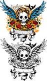 Het ontwerp van de schedel Royalty-vrije Stock Afbeeldingen