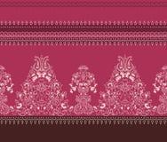 Het ontwerp van het de stijlpatroon van Paisley van de deelgrens Stock Foto's