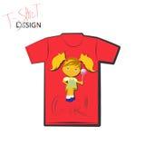 Het ontwerp van de t-shirt royalty-vrije illustratie