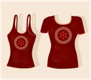Het ontwerp van de t-shirt Stock Afbeelding