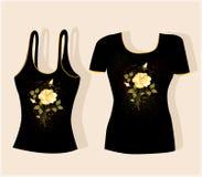 Het ontwerp van de t-shirt Stock Foto's