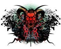 Het ontwerp van de t-shirt met monsterhoofd Royalty-vrije Stock Foto