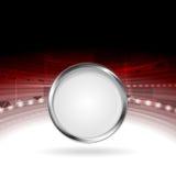 Het ontwerp van de technologiemotie met het kader van de metaalcirkel Royalty-vrije Stock Fotografie