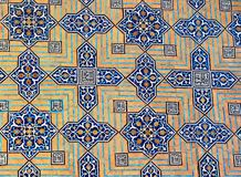 Het ontwerp van de tegel, Jameh Moskee, Yazd Stock Foto