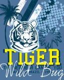 Het ontwerp van de tijger Stock Foto's