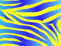 Het ontwerp van de tijger in blauw royalty-vrije illustratie