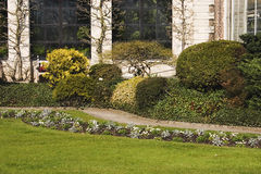 Het ontwerp van de tuin Een de lentepark in Leuven, Vlaanderen, België 2 Royalty-vrije Stock Fotografie