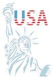 Het ontwerp van de V.S. over witte achtergrond Stock Afbeelding