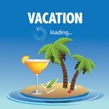 Het ontwerp van de vakantielading Stock Foto
