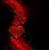 Het ontwerp van de valentijnskaart Stock Foto