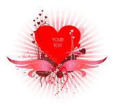 Het ontwerp van de valentijnskaart Stock Afbeelding