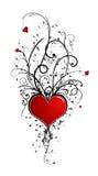 Het ontwerp van de valentijnskaart (vector incl) Royalty-vrije Stock Afbeeldingen