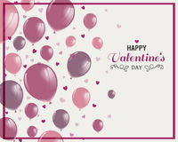 Het ontwerp van de valentijnskaartendag Stock Fotografie