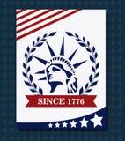 het ontwerp van de Verenigde Staten van Amerika Stock Afbeeldingen