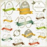 Het ontwerp van de verjaardag en van het jubileum Stock Afbeelding
