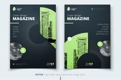 Het Ontwerp van de vlieger Collectieve bedrijfsrapportdekking, brochure of vlieger Stock Foto