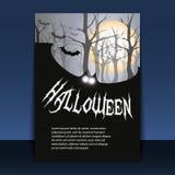 Het Ontwerp van de Vlieger of van de Dekking van Halloween Stock Afbeeldingen