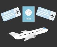 het ontwerp van de vliegtuigreis Vector illustratie vector illustratie
