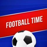 Het ontwerp van de voetbal 2018 affiche met voetbalbal royalty-vrije illustratie