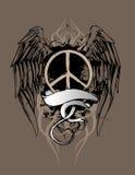 Het Ontwerp van de Vrede van Grunge Stock Fotografie
