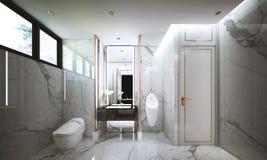 Het ontwerp van de Waterclosetruimte, binnenlands van Moderne luxestijl royalty-vrije stock foto