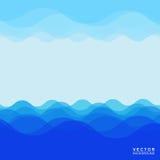 Het ontwerp van de watergolf Stock Fotografie