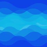 Het ontwerp van de watergolf Stock Foto's