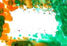 Het ontwerp van de waterverfplons Stock Afbeelding