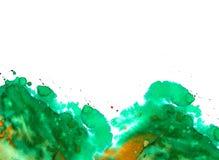 Het ontwerp van de waterverfplons Stock Afbeeldingen
