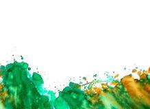 Het ontwerp van de waterverfplons Stock Foto