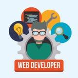Het ontwerp van de Webontwikkelaar Stock Afbeeldingen
