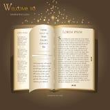Het ontwerp van de website - boek Fairytale Stock Afbeeldingen