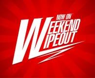 Het ontwerp van de weekend wipeout verkoop vector illustratie