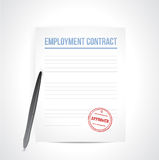 Het ontwerp van de werkgelegenheids contrat illustratie Stock Foto's