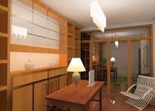 Het ontwerp van de werkruimte Stock Afbeeldingen