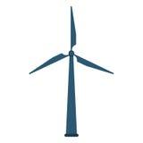 het ontwerp van de windmolen royalty-vrije illustratie