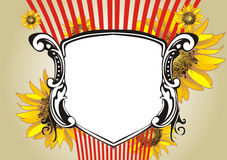 Het ontwerp van de zonnebloem Royalty-vrije Stock Foto