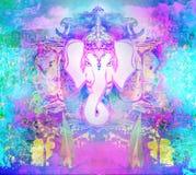 Het Ontwerp van Diwaliganesha vector illustratie
