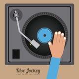 Het ontwerp van DJ royalty-vrije illustratie